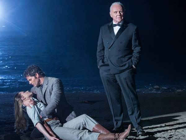 Evan Rachel Wood, James Marsden and Anthony Hopkins in Westworld (2016)