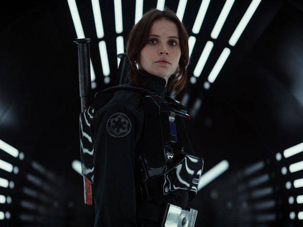 Felicity Jones as Jyn Erso in Star Wars Rogue One